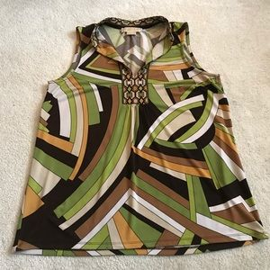 Sleeveless hippie style Michael Kors top medium